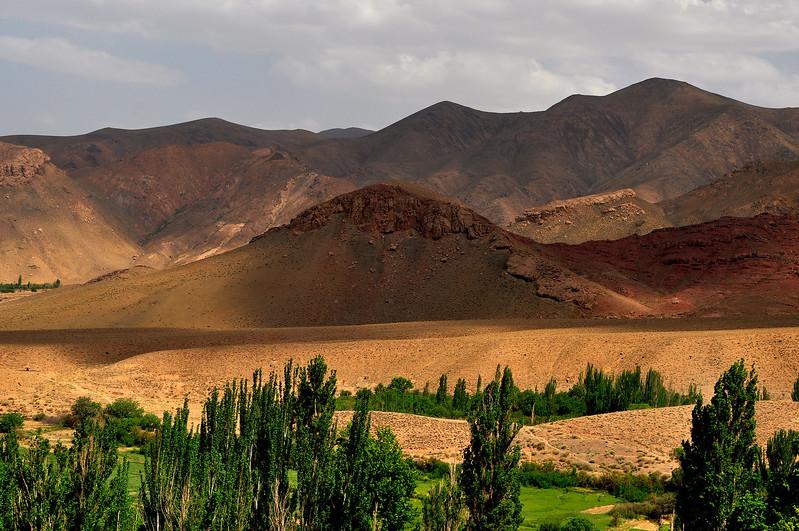 Deep Colors of Karkas Mountains, Abyaneh Iran.