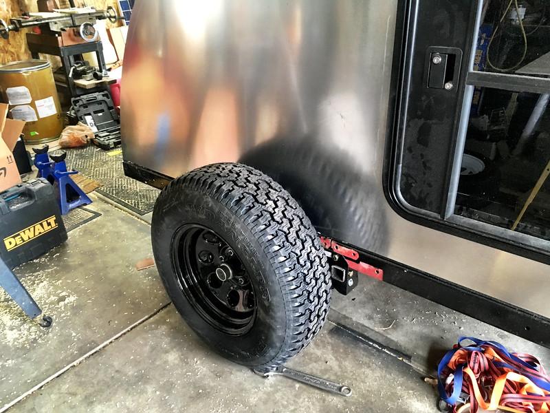 New Goodyear Wrangler 235/75R15 on Crager 8x15 rims