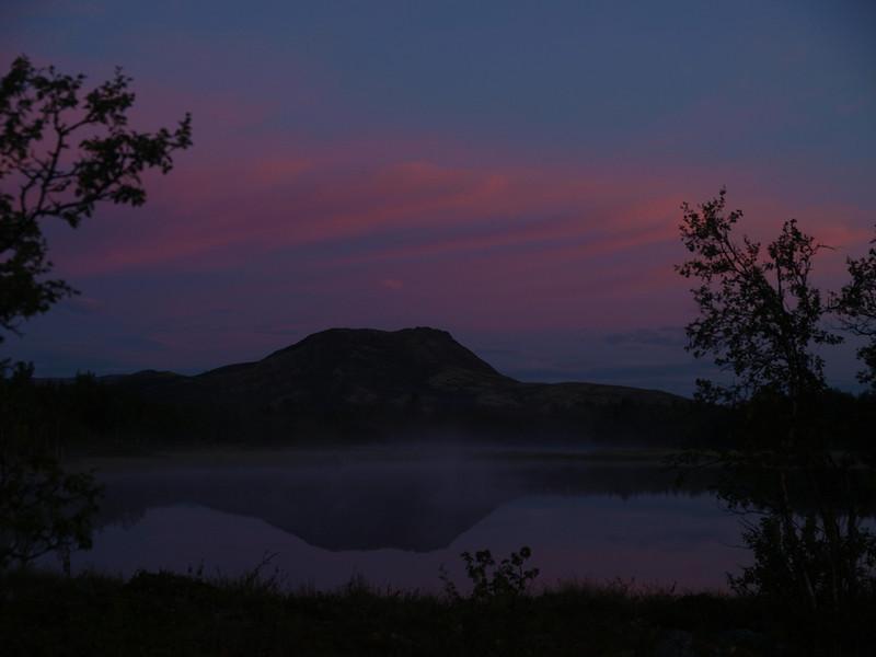 "Sunrise at Venabu in Norway, mountain ""Svartfjellet"" - black mountain"