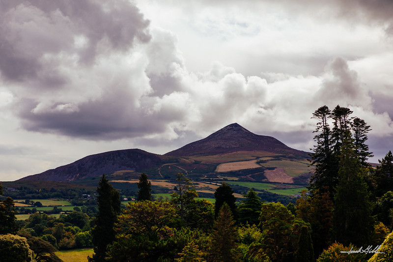 Sugarloaf Mountain view from the Powerscourt Estate
