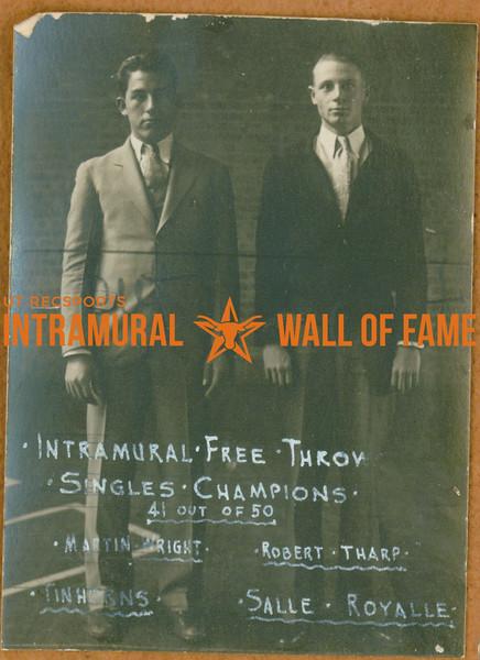 FREE THROW Intramural Singles Champions  Martin Wright (Tinhorns) & Robert Tharp (Salle Royalle)