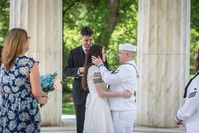 01 First Look & Ceremony @ DC War Memorial