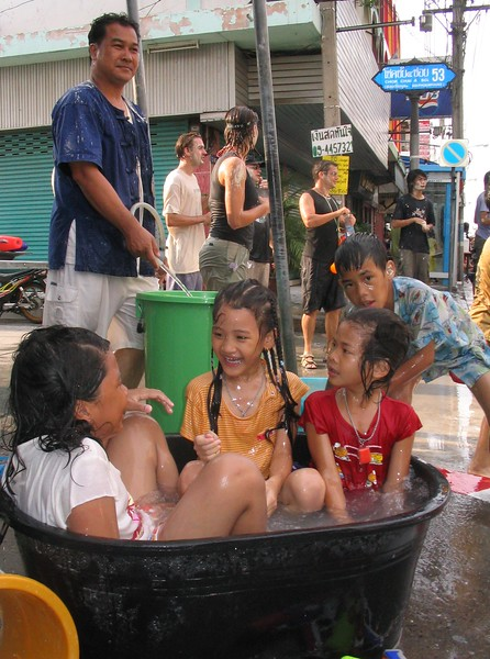 April's the hottest time of year in Thailand so Songkran provides a perfect opportunity to cool off.
