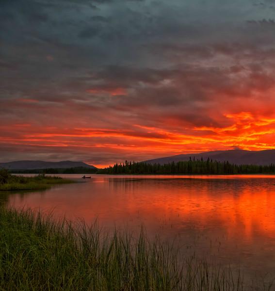Sunrise at Boya Lake