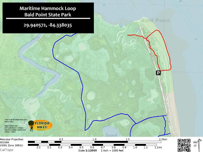Maritime Hammock Loop Trail Map