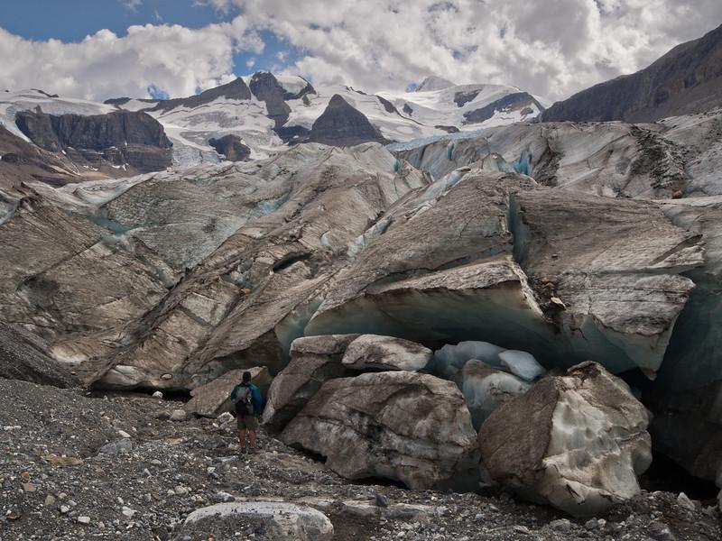 Hiker & Robson Glacier