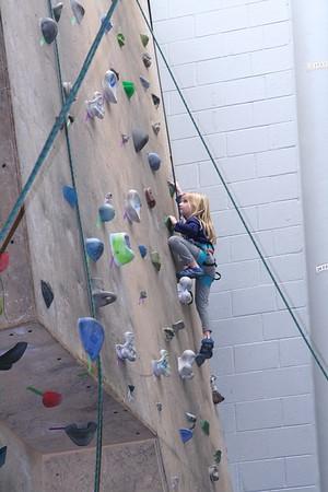 Kate & Harrison on a Climbing Wall