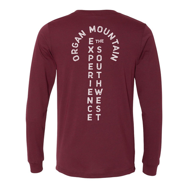 Organ Mountain Outfitters - Outdoor Apparel - Mens T-Shirt - EXSW Adventure Long Sleeve Tee - Heather Cardinal Back.jpg