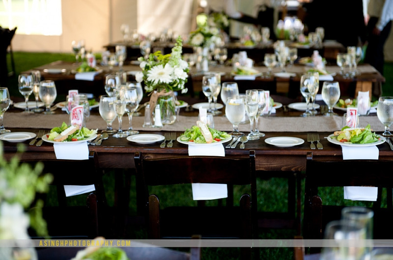 Earthy wedding theme by The Casual Gourmet on Cape Cod. By Ajit Singh (http_//asinghphotography.com/) - Home - The Casual Gourmet, Cape Cod Wedding Caterer