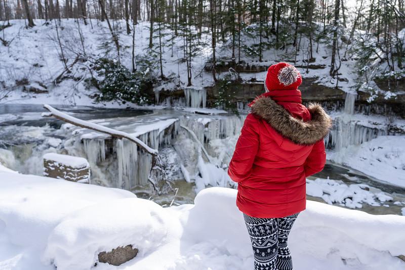 Amanda at Great Falls of Tinkers Creek