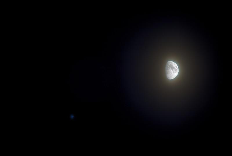 Shitty HDR Series -- Hazy Moon and Jupiter