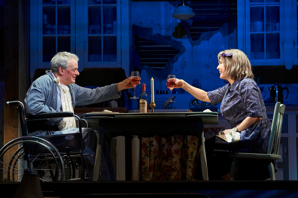 . Andrew May and Kathleen Pirkl Tague perform a scene in Great Lakes Theater�s �Misery.� The show continues through March 11. For more information, visit www.greatlakestheater.org. (Roger Mastroianni)