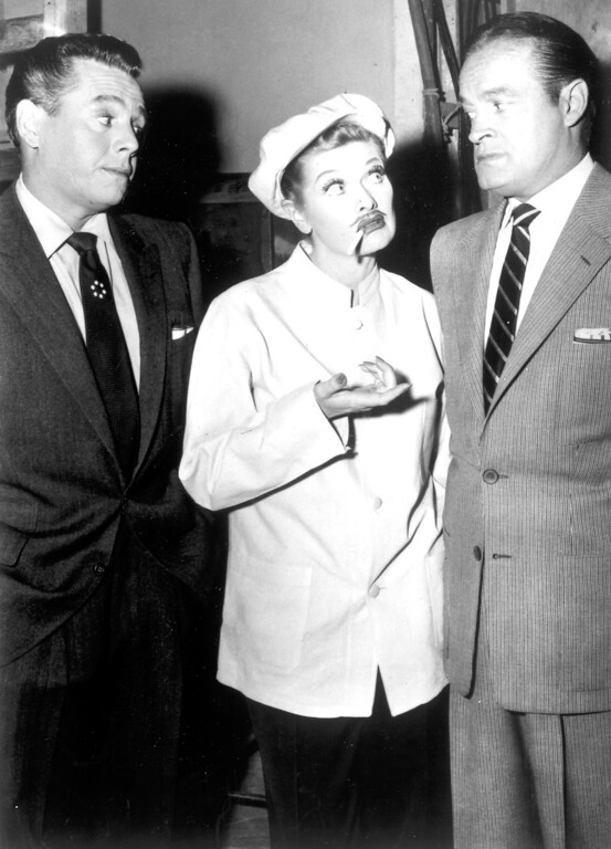 ". ""I Love Lucy\""  Desi Arnaz, Lucille Ball and Bob Hope.   Los Angeles Daily News file photo"
