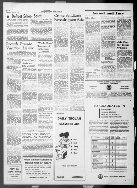 Daily Trojan, Vol. 44, No. 101, March 24, 1953