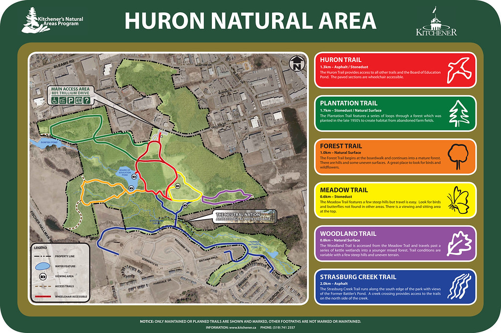 Huron Natural Area Trail Map