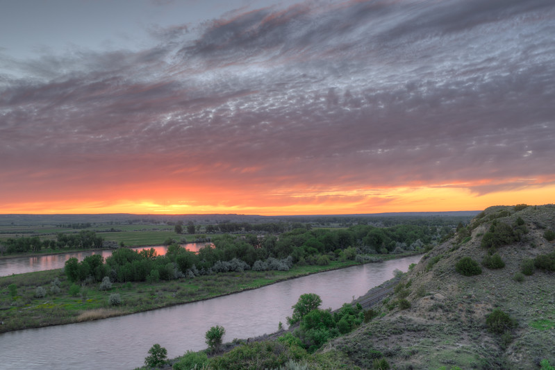 Montana Sunrise - Yellowstone River