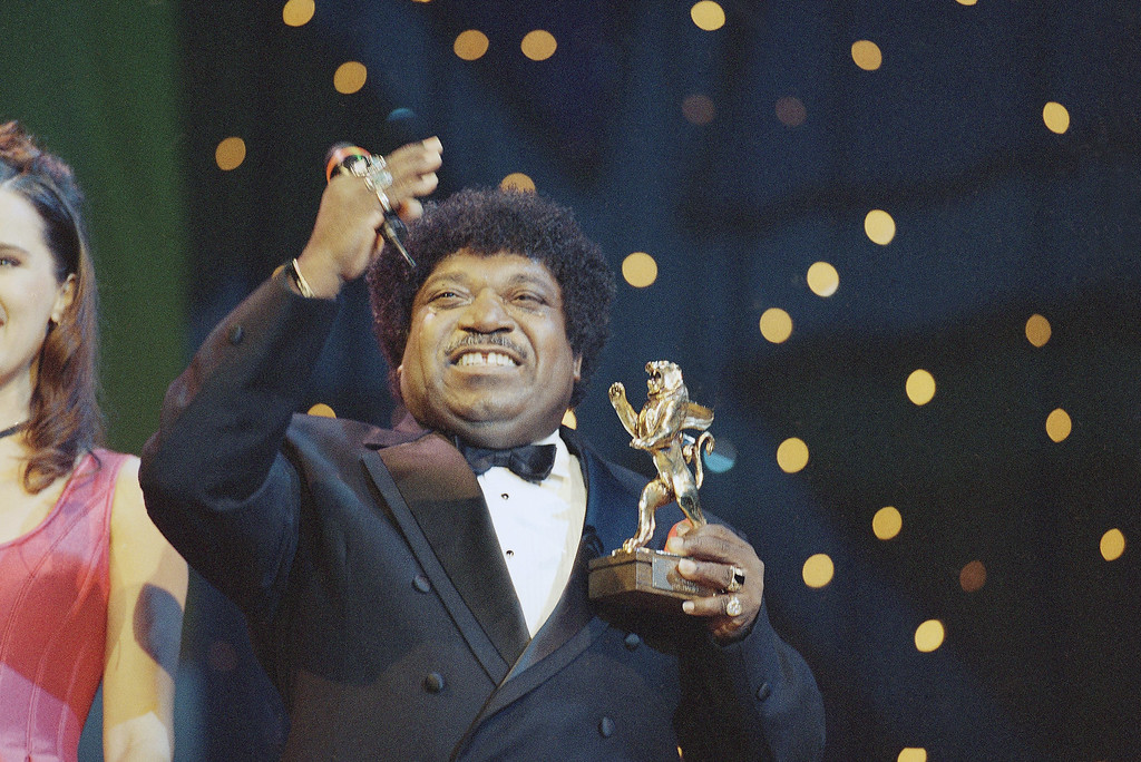 . The American soul-singer Percy Sledge, �When a man loves a woman� (a love song from 1966) is awarded with a �Golden Lion� in Dortmund, Germany on Saturday, Oct. 22, 1994 during the 35 th Radio Television Luxembourg �Lion Award �94�. He is well-known as one of the best soul song interpreters all over the world. (AP Photo/Edgar Schoepal)