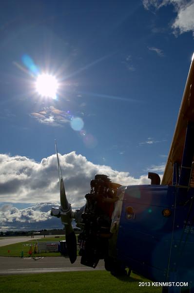 Sunny morning on a Stearman
