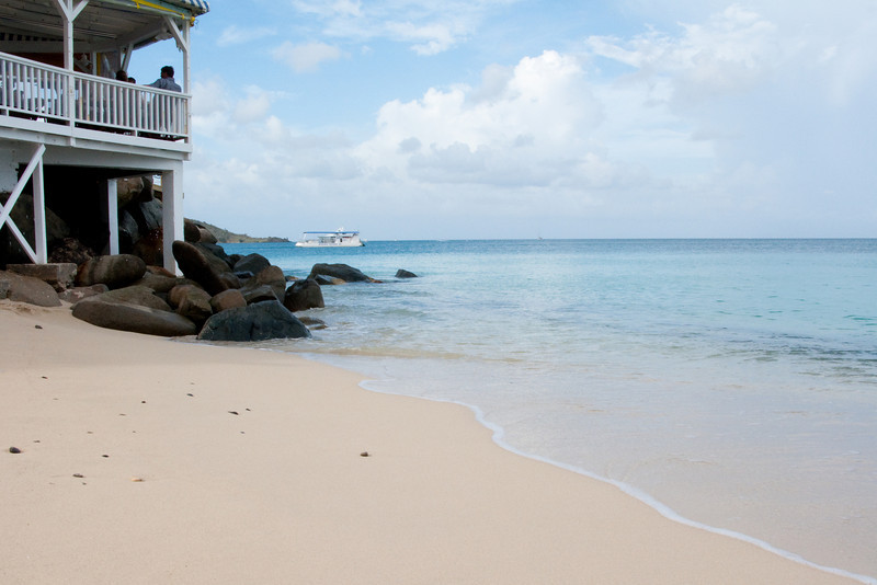 View from the beach at the Grand Case Beach Club