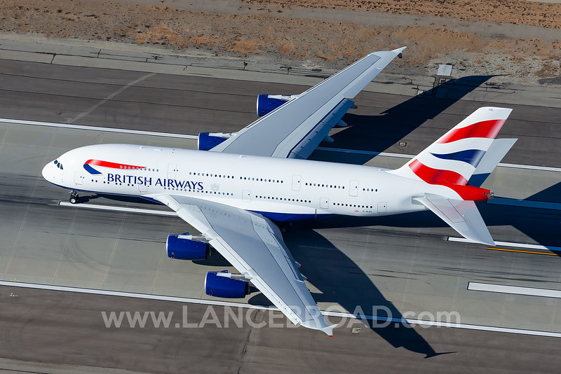 British Airways A380-800 - G-XLEL - LAX