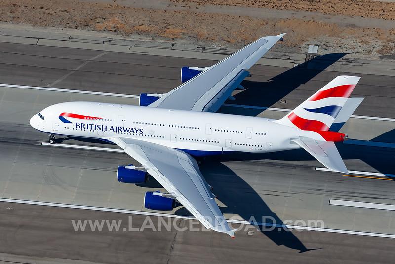 British Airways A380-800 - G-XLEL - LAX