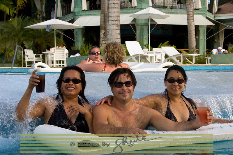 Isabel, Tony and Tooky at the Couples Negril Resort