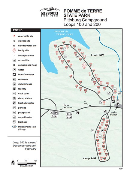 Pomme de Terre State Park (Pittsburg Campground - Loops 100 & 200)