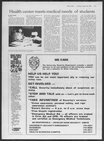 Daily Trojan, Vol. 94, No. 1, August 30, 1983