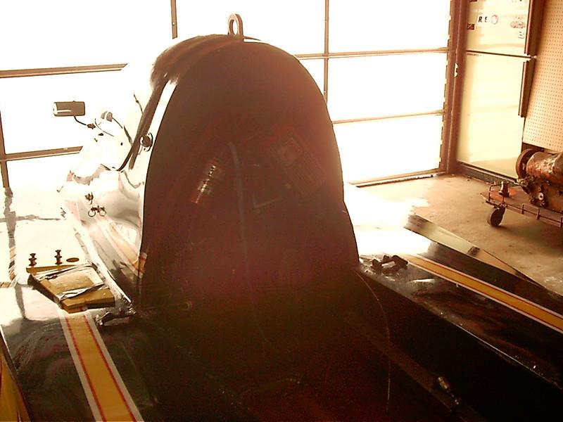 Back side of the cockpit.