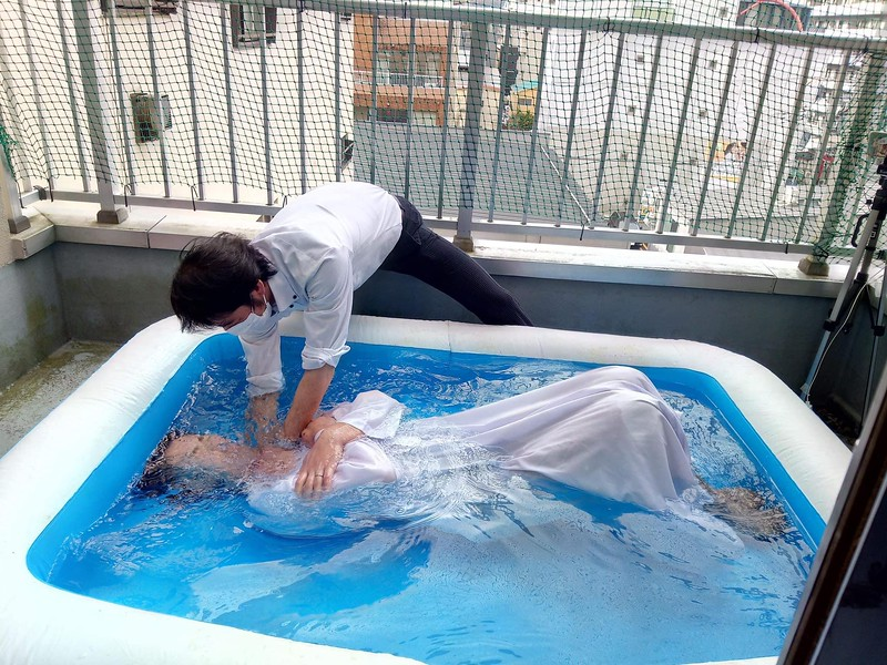 Baptism of a female believer