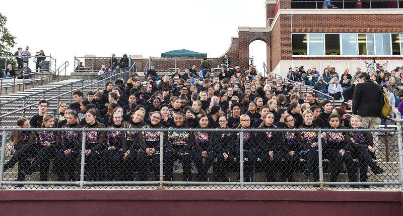 Phillipsburg High School Marching Band hosts the Neil Boyer Band Festival, Oct 12, 2019.