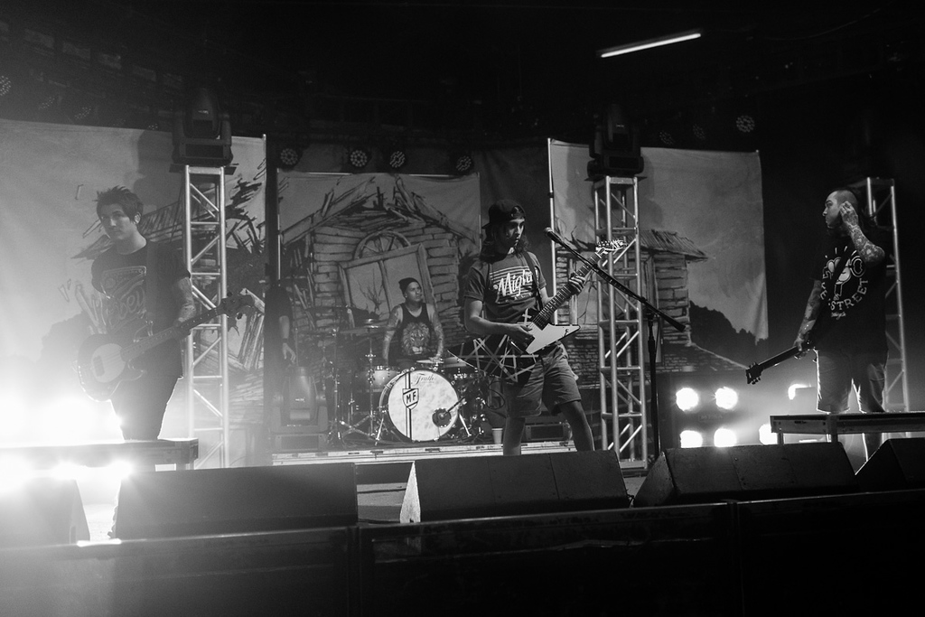Pierce The Veil rehearing for the Collide With The Sky Tour