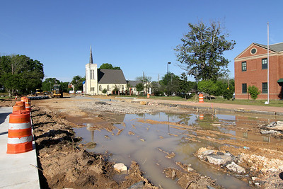 2014 Roundabout at College and Oglethorpe