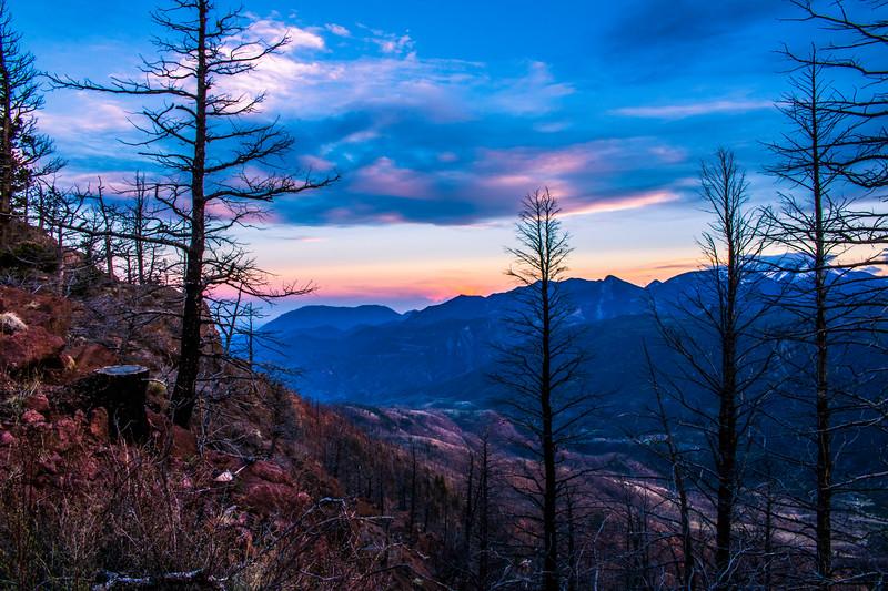 Rampart Range Sunset Over Waldo Canyon Burn Area