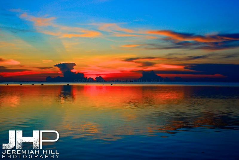 """""""Glazed Sunset"""", Ko Phan Ngan, Thailand, 2007 Print TH-373"""
