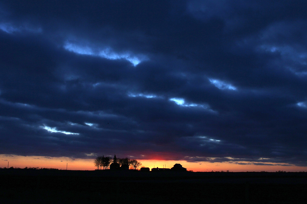 . Iowa # 7.  The sun sets over a farm January 1, 2012 in Johnston, Iowa. (Photo by Win McNamee/Getty Images)
