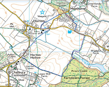 2.75 mile walk round Horton  - to justify a nice pub lunch at Drusilla's