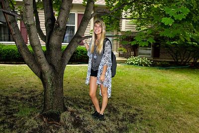 Carolyn First Day of School Senior Year