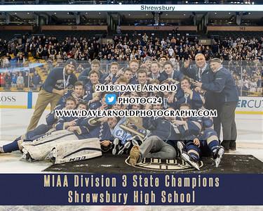 3/18/2018 - Boys Varsity Hockey - Hanover vs Shrewsbury