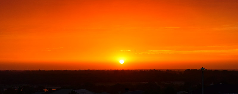Sunset over Paringa after 46c day