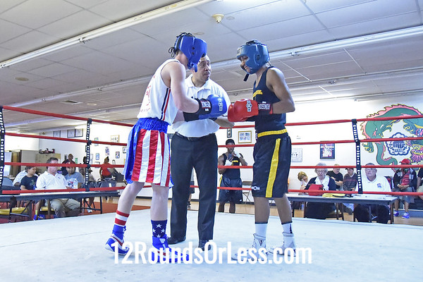 Bout 5 Jason Pauley, Blue Gloves, Pullen & Burke BC -vs- Isaiah Guy, Red Gloves, Braddock BC