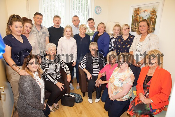 Pictured in the Cruse Bereavement Care Room in Memory of Eoin Farrell are members of Eoin's Family. R1725009