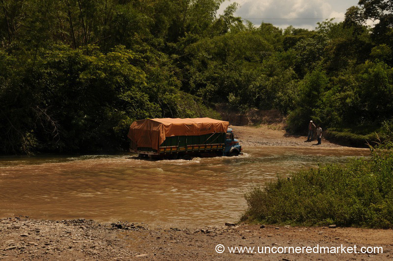 Crossing the River - Vallemi to Concepcion, Paraguay
