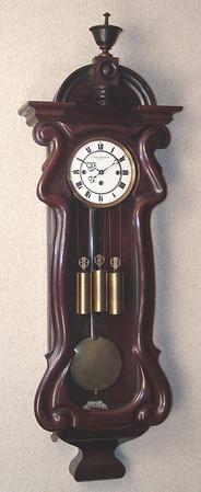 VR-526 - Late Biedermeier Granne-Sonnerie striking clock by J. Schardtmihlner in Krems