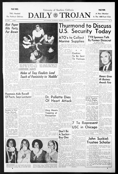 Daily Trojan, Vol. 57, No. 40, November 15, 1965