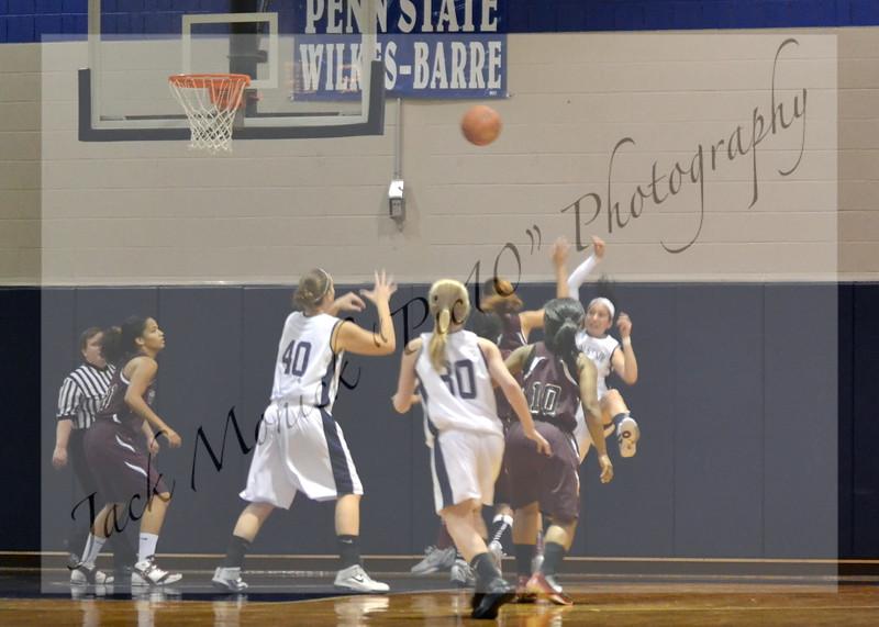2012 PENN STATE WILKES-BARRE WOMEN'S BASKETBALL VS