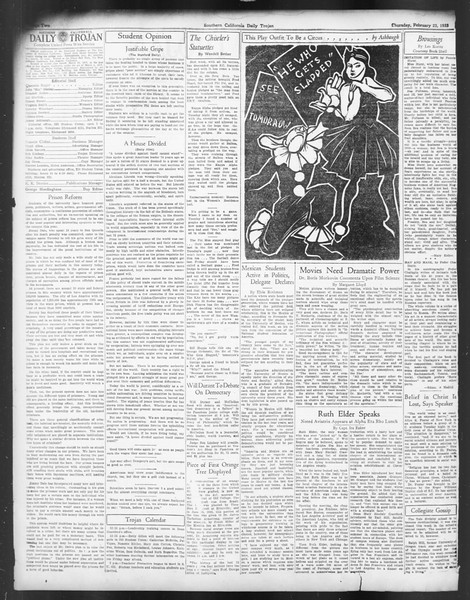 Daily Trojan, Vol. 24, No. 91, February 23, 1933