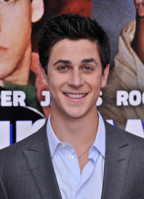 """. Actor David Henrie attends the \""""Grown Ups 2\"""" New York Premiere at AMC Lincoln Square Theater on July 10, 2013 in New York City.  (Photo by Stephen Lovekin/Getty Images)"""