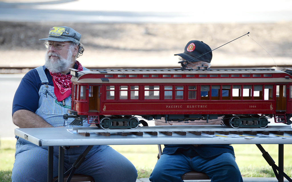 . The Torrance historical railroad bridge was rededicated and renamed the Pacific Electric Railway El Prado Bridge in a ceremony Thursday. 20130523 Photo by Steve McCrank / Staff Photographer
