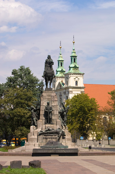 Poland, Cracow, Grunwald Monument on Matejko Square